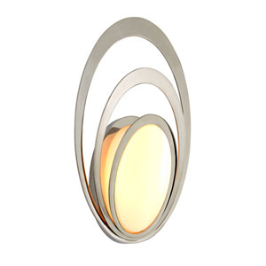 Stratus Opal White Glass Large LED Outdoor Wall Sconce