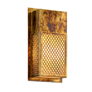 Ibiza Charred Bronze Two-Light Outdoor Wall Sconce with Opal White Glass