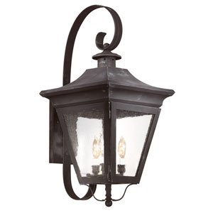 Oxford Charred Iron Three-Light Outdoor Wall Mount