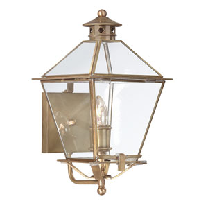 Montgomery Natural Aged Brass One-Light Outdoor Wall Mount