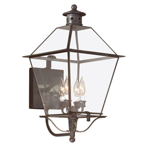 Montgomery Charred Iron Four-Light Outdoor Wall Mount