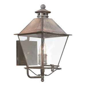 Montgomery Natural Rust One-Light Outdoor Wall Mount with Clear Glass