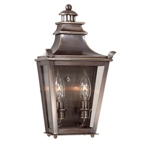 Dorchester Small Two-Light Outdoor Wall Mount