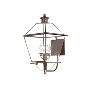 Montgomery Natural Rust Four-Light Large Outdoor Wall Lantern