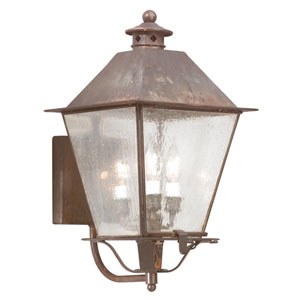 Montgomery Natural Rust Three-Light Outdoor Wall Mount