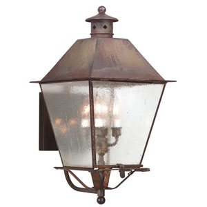 Montgomery Natural Rust Four-Light Outdoor Wall Mount