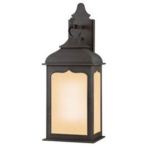 Williamsburg® Henry Street Fluorescent Medium Charred Iron Exterior Wall Light