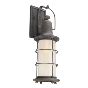 Maritime Vintage Bronze One-Light Six-Inch Fluorescent Outdoor Wall Sconce