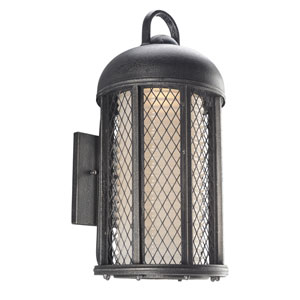 Signal Hill Aged Silver One-Light Ten-Inch Fluorescent Outdoor Wall Sconce