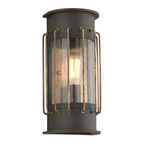 Cabot Bronze One-Light Five-Inch Fluorescent Outdoor Wall Sconce