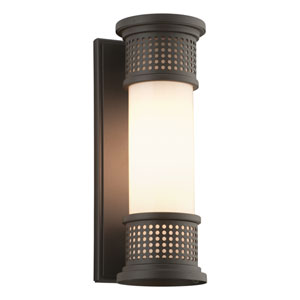Mcqueen Bronze One-Light Four-Inch Fluorescent Outdoor Wall Sconce with Marine Grade Finish