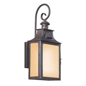 Newton Old Bronze One-Light Energy Star Outdoor Wall Mount