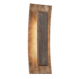 Ginza Warm Silver with Forged Bronze One-Light Large LED Wall Sconce