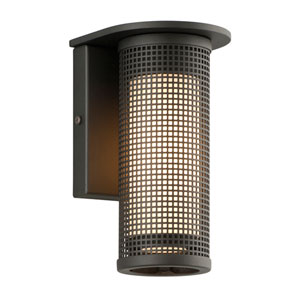 Hive Matte Black Small LED Wall Sconce with Opal White Glass