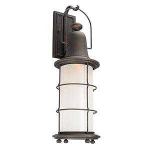 Maritime Vintage Bronze One-Light Eight-Inch LED Outdoor Wall Sconce