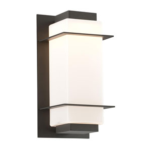 Paradox Bronze One-Light Five-Inch LED Outdoor Wall Sconce