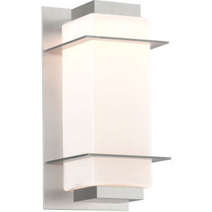 Paradox Satin Aluminum One-Light Five-Inch LED Outdoor Wall Sconce