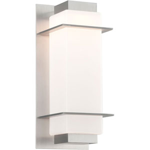 Paradox Satin Aluminum One-Light Six-Inch LED  Outdoor Wall Sconce