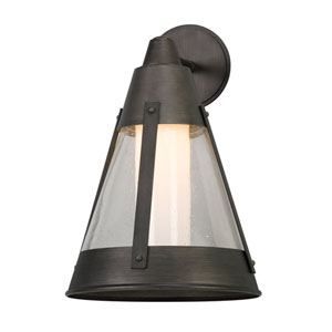 North Bay Graphite 12.5-Inch One-Light Outdoor LED Wall Lantern