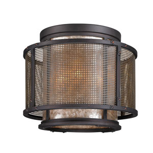 Bronze Copper Mountain Four-Light Ceiling Flush Mount