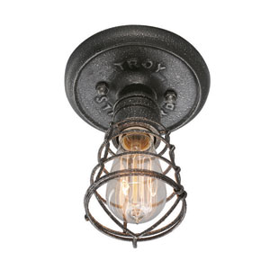 Conduit Old Silver One Light Flush Mount