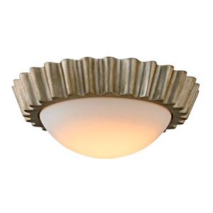 Reese Silver Leaf 13-Inch LED Flush Mount