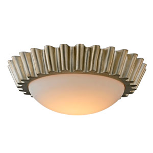 Reese Silver Leaf 16-Inch LED Flush Mount