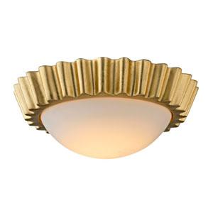 Reese Gold Leaf 13-Inch LED Flush Mount