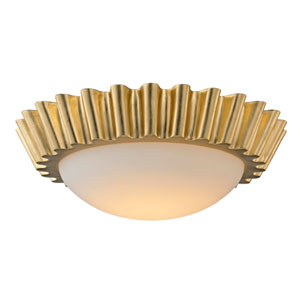 Reese Gold Leaf 16-Inch LED Flush Mount