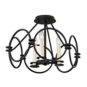 Juliette Country Iron Semi-Flush Mount