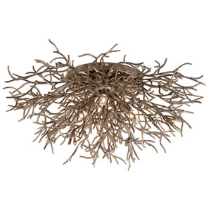 Sierra Distressed Bronze Flush Mount