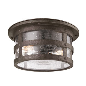Bronze Barbosa Two-Light Fluorescent Ceiling Flush Mount