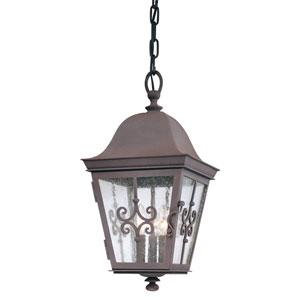 Markham Weathered Bronze Three-Light Outdoor Medium Pendant