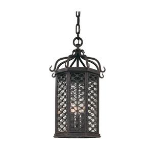 Los Olivos Old Iron Three-Light Outdoor Medium Pendant