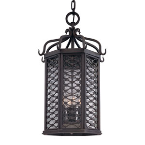 Los Olivos Old Iron Four-Light Outdoor Pendant