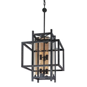 Crosby French Iron Eight-Light Pendant
