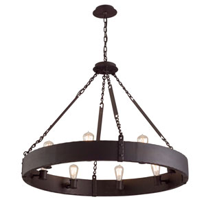 Jackson Copper Bronze Eight-Light Chandelier