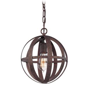 Flatiron Weathered Iron One-Light Pendant