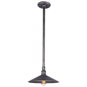 Toledo Old Silver One-Light 14-Inch Outdoor Pendant