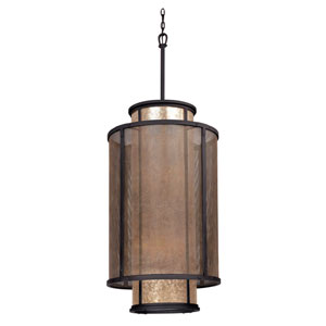 Bronze Copper Mountain 21-Inch Eight-Light Drum Pendant