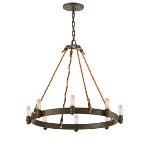 Shipyard Bronze Pike Place Eight-Light Chandelier