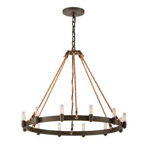 Shipyard Bronze Pike Place 12-Light Chandelier