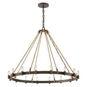 Shipyard Bronze Pike Place 16-Light Chandelier