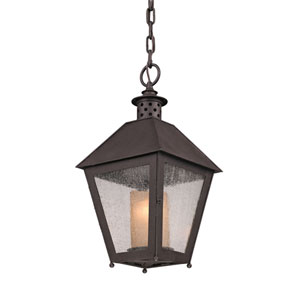 Centennial Rust Sagamore One-Light Hanging Post Mount Lantern Pendant
