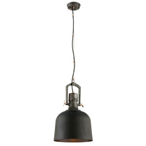 Hanger 31 Old Silver One-Light Large Pendant with Aged Brass Accents