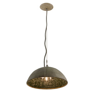 Relativity Salvage Zinc Three-Light Medium Pendant with Chalkboard Interior