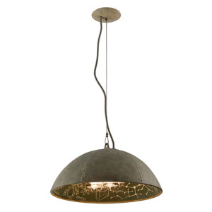 Relativity Salvage Zinc Four-Light Large Pendant with Chalkboard Interior