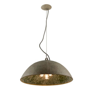 Relativity Salvage Zinc Five-Light Extra Large Pendant with Chalkboard Interior