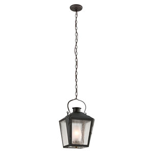 Nantucket Charred Iron One-Light Medium Outdoor Pendant