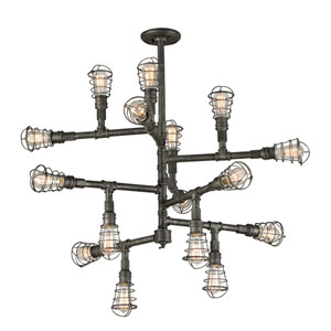 Conduit Old Silver 16 Light Extra Large Chandelier